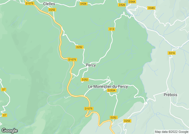 Map for PERCY, 50410, France