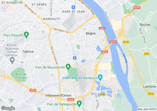 Map for BEGLES, Bordeaux Area, S.W France - Aquitaine,