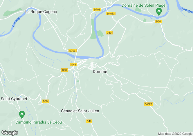 Map for Domme, Aquitaine, 24250, France