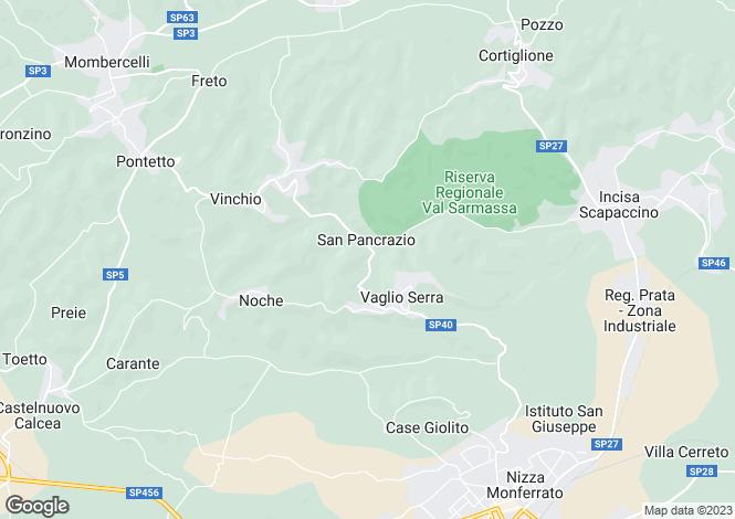 Map for Nizza Monferrato, Asti, Piedmont