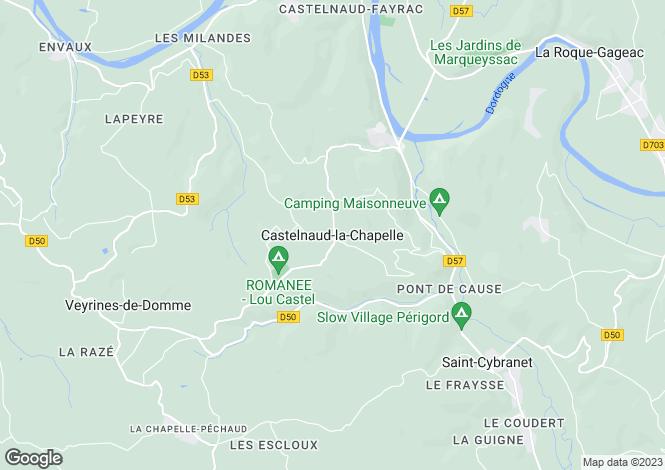 Map for Castelnaud La Chapelle, Aquitaine, 24250, France