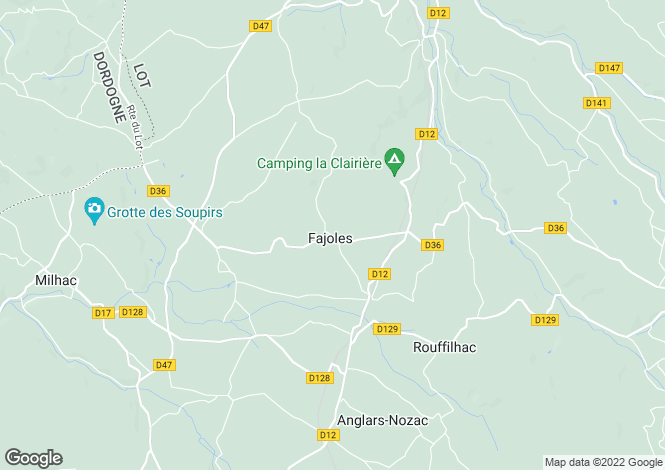 Map for FAJOLES, 46300, France