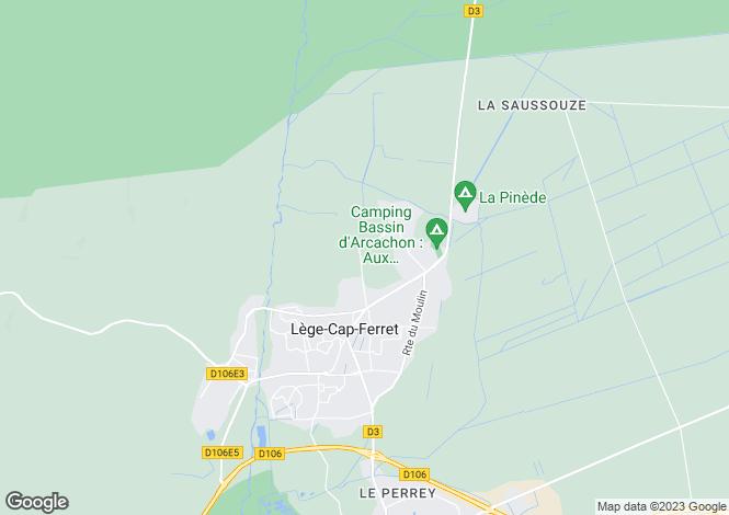 Map for LEGE CAP FERRET, Bordeaux Area, S.W France - Aquitaine,