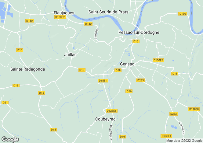 Map for Gensac, Gironde, Aquitaine