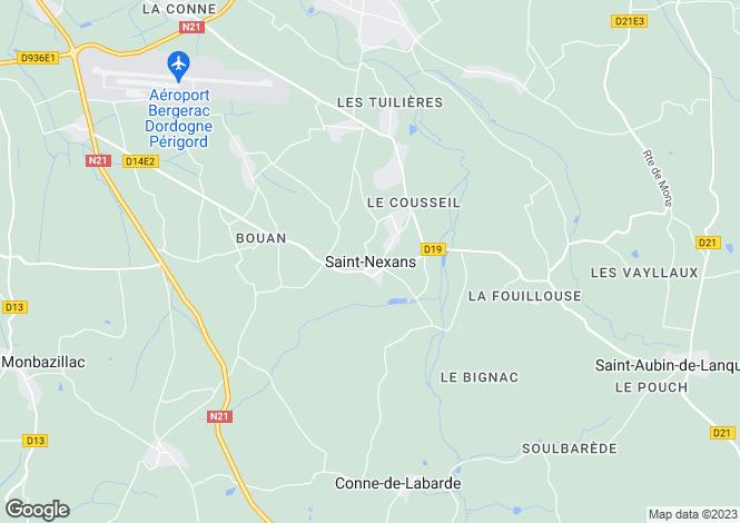 Map for Saint-Nexans, Aquitaine, 24520, France