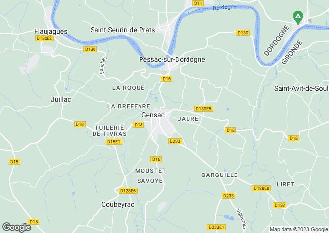 Map for Secteur : Gensac, Gironde