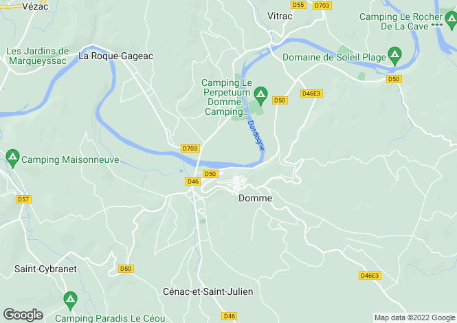 Map for Aquitaine, Dordogne, Domme