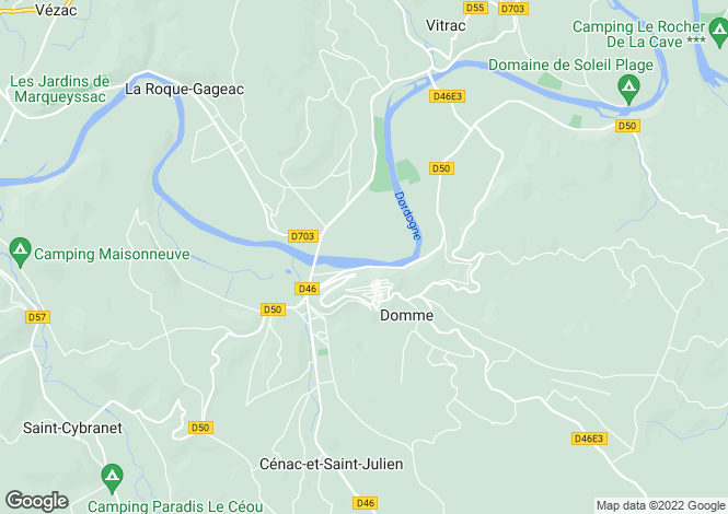 Map for Domme, 24, France
