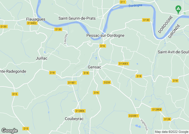 Map for Secteur: Gensac, Gironde