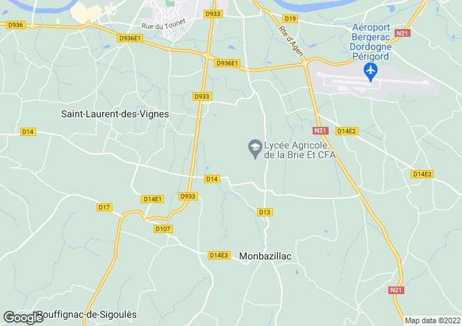 Map for monbazillac, Dordogne, France