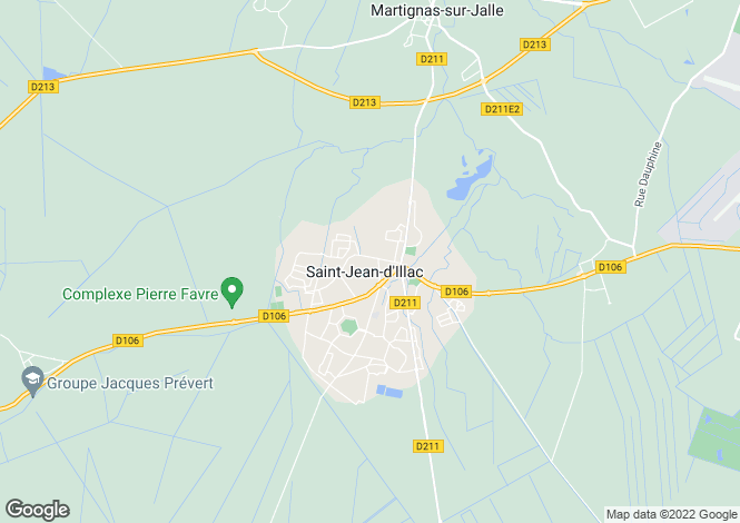 Map for Saint-Jean-d'Illac, Gironde, 33127, France