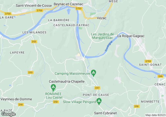 Map for Near Castelnaud la Chapelle, Dordogne, Aquitaine