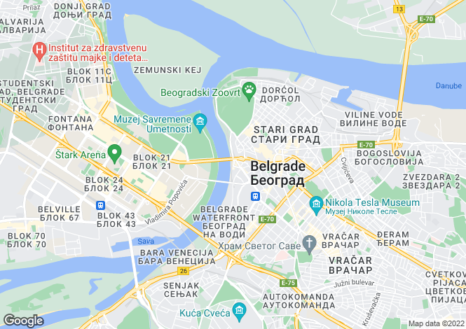 Map for Belgrade
