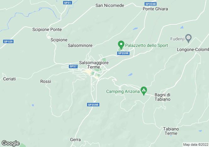 Map for Salsomaggiore Terme, Parma, Italy