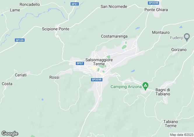 Map for Emilia-Romagna, Parma, Salsomaggiore Terme