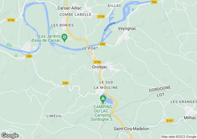 Map for Grolejac, Dordogne, Aquitaine