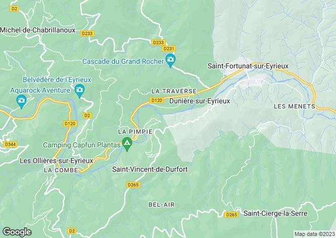 Map for duniere-sur-eyrieux, Ardèche, France