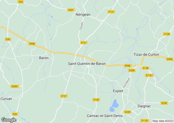 Map for Secteur: St Quentin de Baron, Gironde
