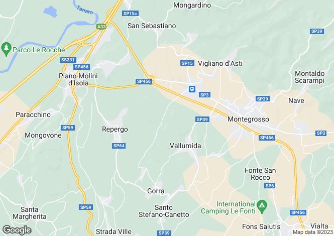 Map for Costigliole d`Asti, Asti, Piedmont