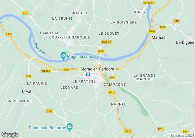Map for Secteur: Siorac, Dordogne