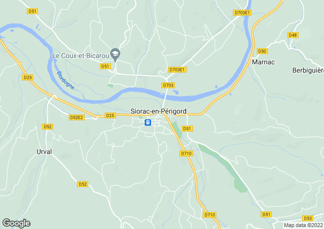 Map for Secteur: Siorac-en-Perigord, Dordogne