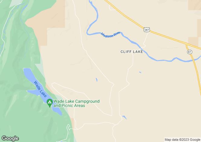 Map for Montana, Madison County, Cameron