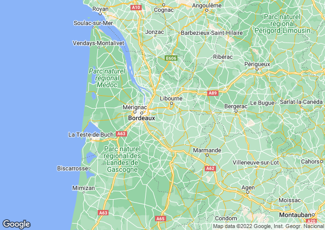 Map for aint-emilion, Gironde, France