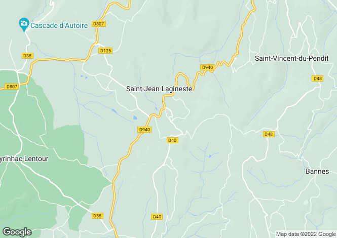 Map for St Jean Laginesse, Lot, 46400, France