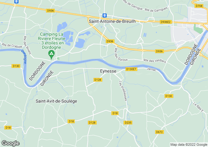 Map for Eynesse, Gironde, Aquitaine