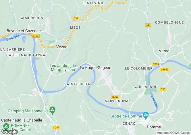 Map for La Roque Gageac, Aquitaine, 24250, France