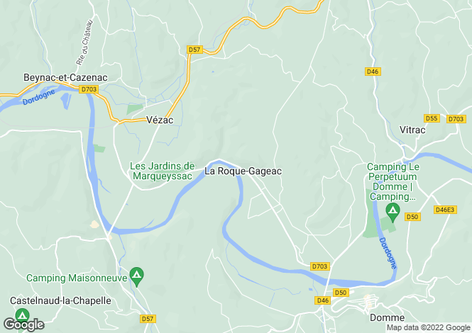 Map for La Roque Gageac, Dordogne, Aquitaine