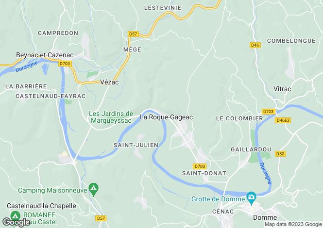 Map for Aquitaine, Dordogne, La Roque Gageac