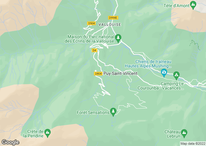 Map for Provence-Alps-Cote d`Azur, Hautes-Alpes, Puy-St-Vincent