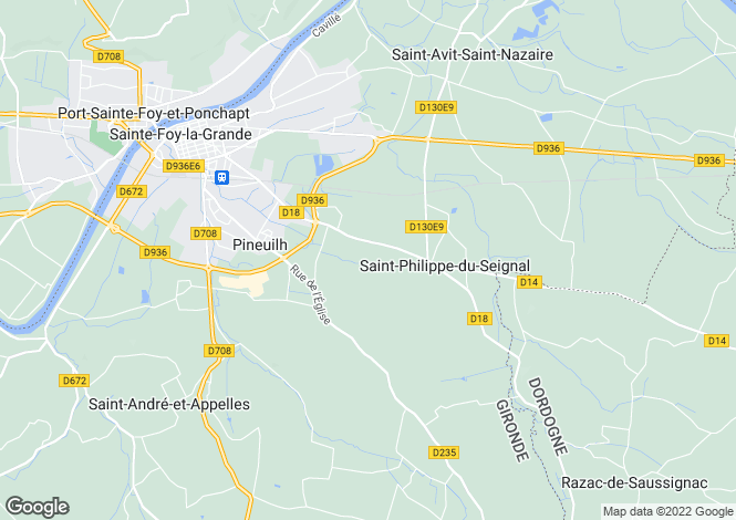 Map for pineuilh, Dordogne, France