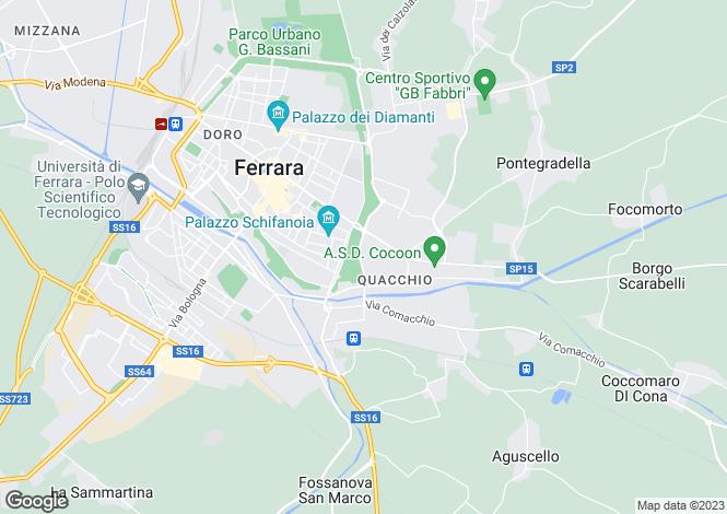 Map for Ferrara, Ferrara, Emilia-Romagna