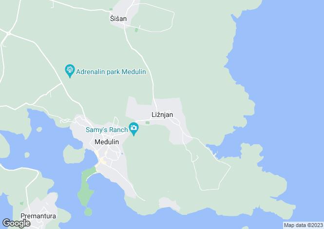 Map for Istra, Liznjan, Croatia