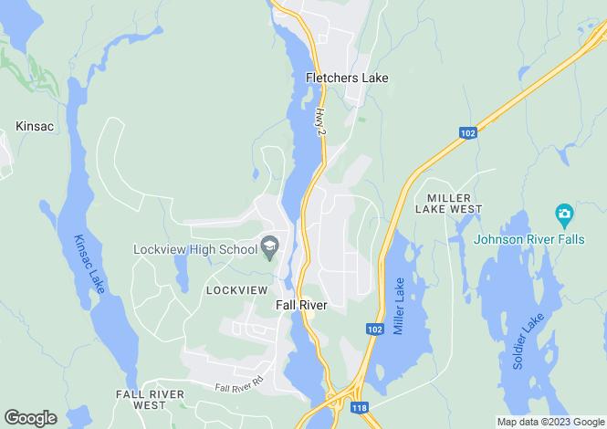 Map for Fall River, Nova Scotia