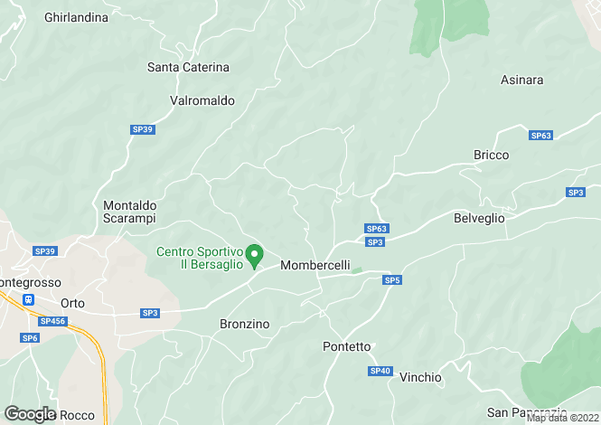 Map for Mombercelli, Asti, Piedmont