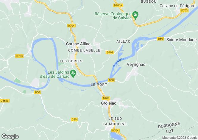 Map for Carsac-Aillac, Dordogne, Aquitaine