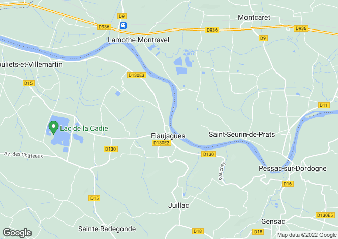 Map for Flaujagues, Gironde