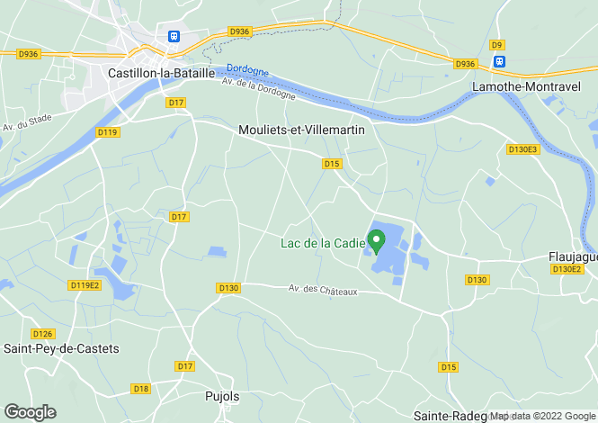 Map for mouliets-et-villemartin, Gironde, France