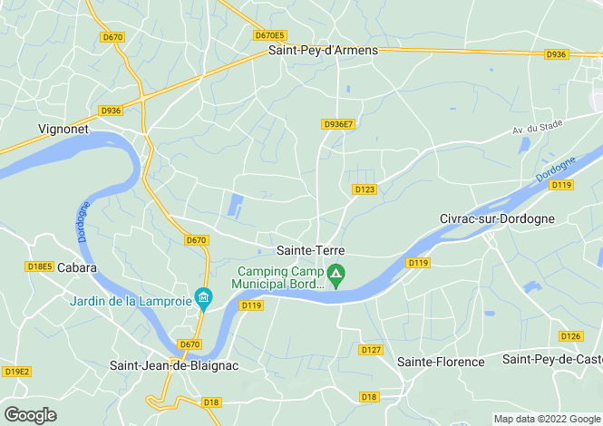 Map for ste-terre, Gironde, France