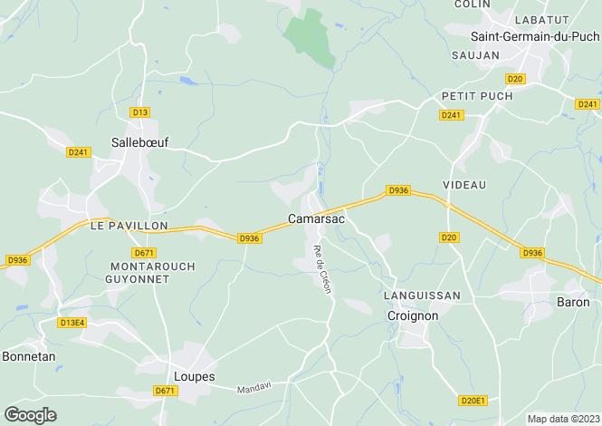 Map for CAMARSAC, NOUVELLE-AQUITAINE