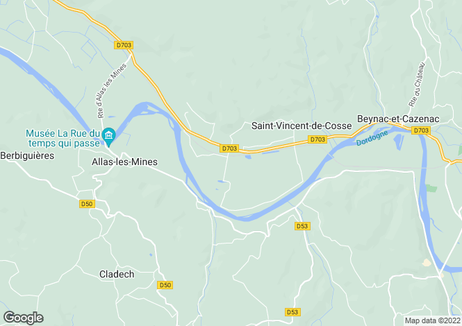 Map for st-vincent-de-cosse, Dordogne, France