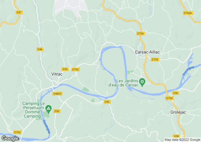 Map for vitrac, Dordogne, France