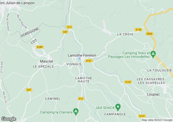 Map for lamothe-fenelon, Lot, France