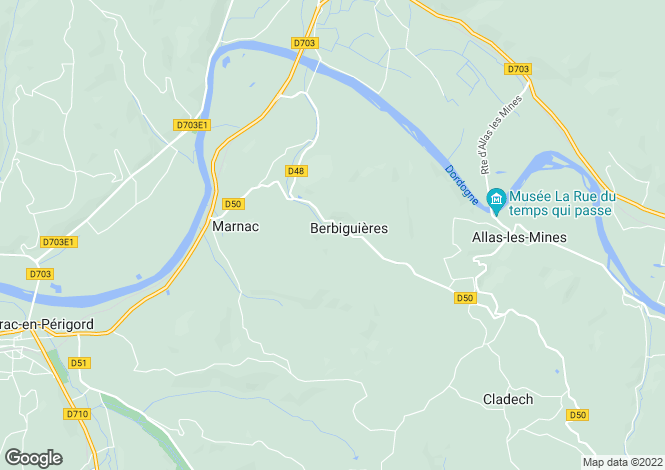 Map for berbiguieres, Dordogne, France