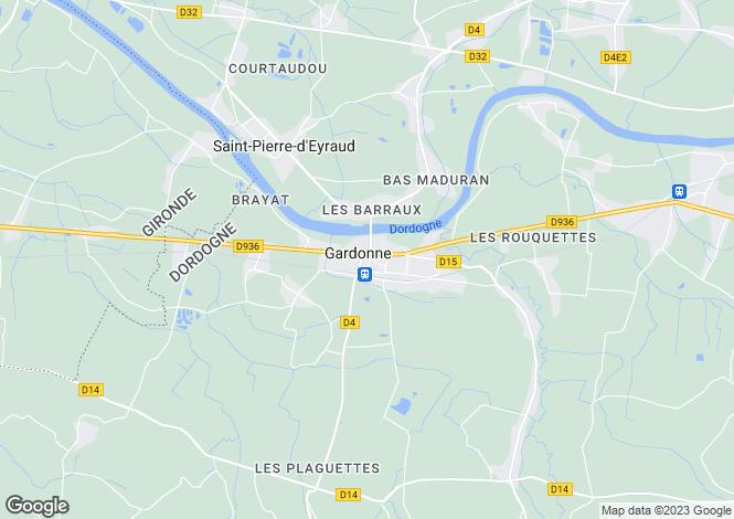 Map for Gardonne, Dordogne, 24800, France