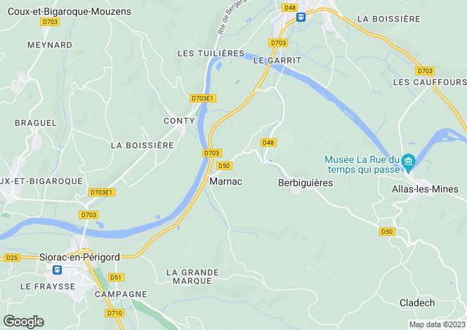 Map for marnac, Dordogne, France