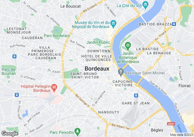 Map for Secteur: Bordeaux, Gironde